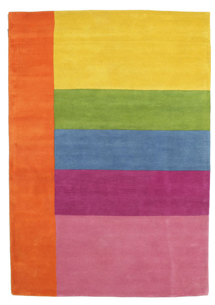 Colors By Meja Handtufted Tapete 160X230 Moderno Laranja/Luz Rosa (Lã, Índia)