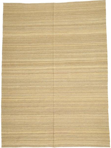 Kilim Moderno Tapete 205X280 Moderno Tecidos À Mão Bege Escuro/Verde Claro/Bege (Lã, Afeganistão)