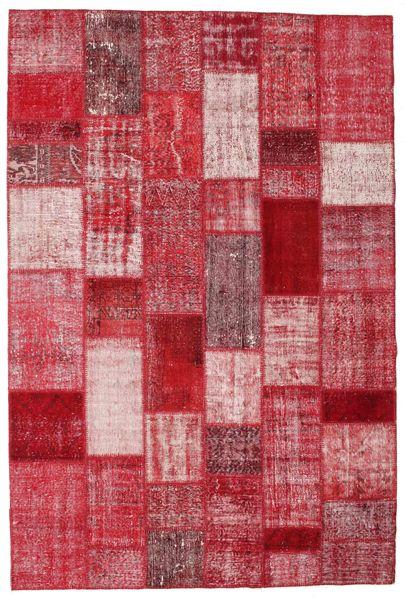 Patchwork Tapete 201X300 Moderno Feito A Mão Vermelho/Rosa (Lã, Turquia)