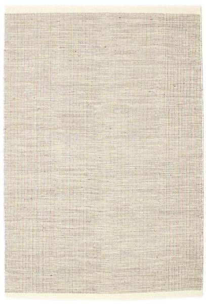 Seaby - Castanho Tapete 140X200 Moderno Tecidos À Mão Cinzento Claro/Bege (Lã, Índia)