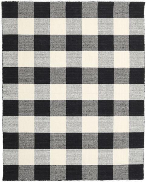 Check Kilim - Preto/Branco Tapete 240X300 Moderno Tecidos À Mão Cinzento Claro/Preto (Lã, Índia)