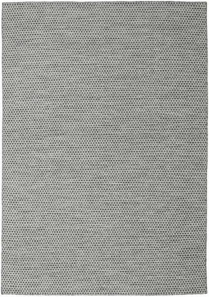 Kilim Honey Comb - Preto/Cinzento Tapete 240X340 Moderno Tecidos À Mão Cinzento Claro/Azul Turquesa (Lã, Índia)