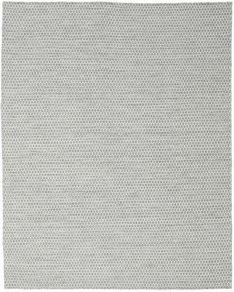 Kilim Honey Comb - Cinzento Tapete 240X300 Moderno Tecidos À Mão Cinzento Claro/Azul Turquesa (Lã, Índia)