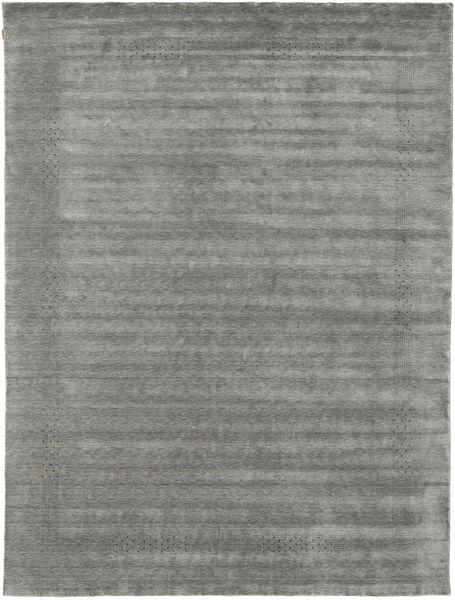 Loribaf Loom Beta - Cinzento Tapete 290X390 Moderno Cinza Escuro Grande (Lã, Índia)