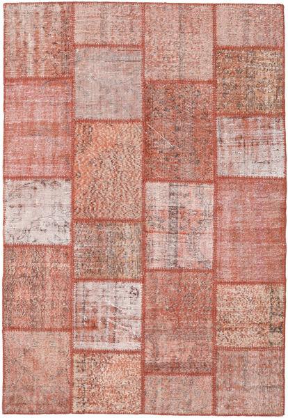 Patchwork Tapete 159X232 Moderno Feito A Mão Luz Rosa/Vermelho Escuro (Lã, Turquia)