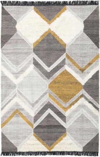 Silvana - Dourado Tapete 200X300 Moderno Tecidos À Mão Cinzento Claro/Cinza Escuro (Lã, Índia)