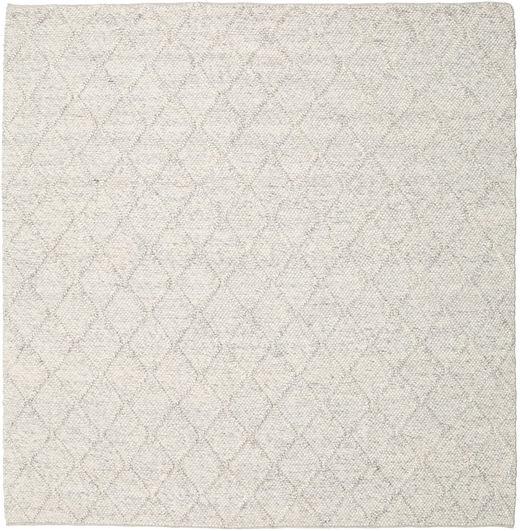 Rut - Azul Cinzento Melange Tapete 250X250 Moderno Tecidos À Mão Quadrado Cinzento Claro/Bege Grande (Lã, Índia)