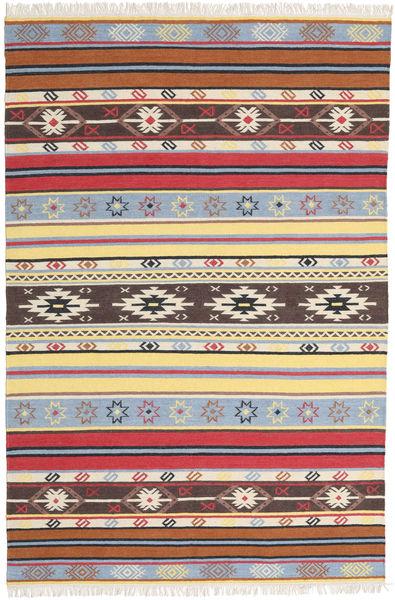 Kilim - Navaja - Navaja Tapete 200X300 Moderno Tecidos À Mão Bege/Castanho Escuro (Lã, Índia)