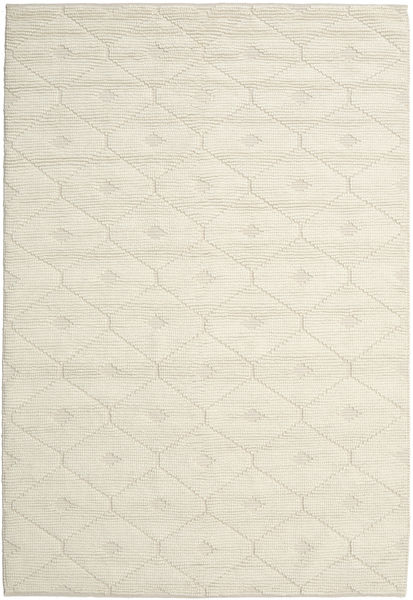Romby - Off-Branco Tapete 200X300 Moderno Tecidos À Mão Bege/Bege Escuro (Lã, Índia)