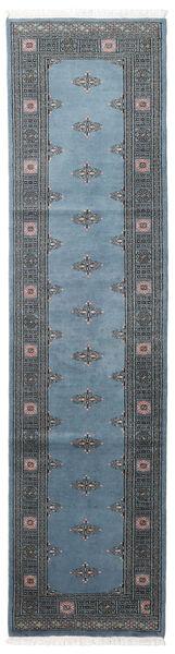 Paquistão Bucara 2Ply Tapete 78X304 Oriental Feito A Mão Tapete Passadeira Azul/Azul Escuro/Cinza Escuro (Lã, Paquistão)
