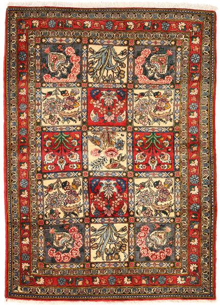 Bakhtiari Collectible Tapete 105X148 Oriental Feito A Mão Cinza Escuro/Castanho (Lã, Pérsia/Irão)