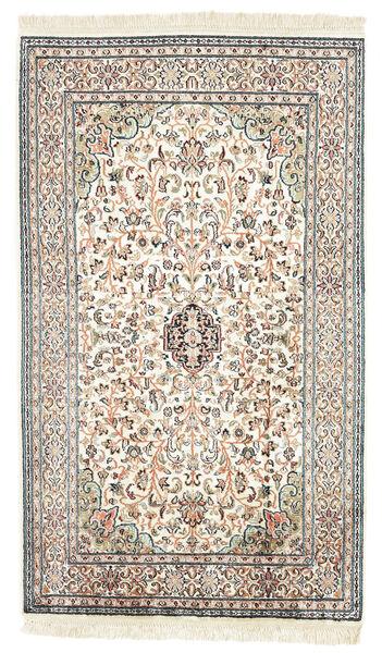 Kashmir Pura Seda Tapete 77X131 Oriental Feito A Mão Bege/Preto (Seda, Índia)