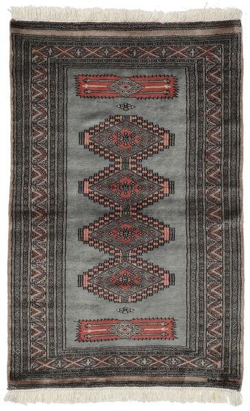 Paquistão Bucara 3Ply Tapete 97X152 Oriental Feito A Mão Preto/Cinza Escuro (Lã, Paquistão)
