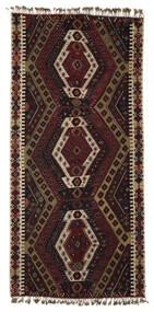 Kilim Malatya Tapete 186X391 Oriental Tecidos À Mão Castanho Escuro/Castanho Claro (Lã, Turquia)