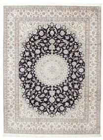 Nain 6La Assinado: Habibian Tapete 205X271 Oriental Feito A Mão (Lã/Seda, Pérsia/Irão)