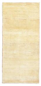 Gabbeh Persa Tapete 81X171 Moderno Feito A Mão Tapete Passadeira Amarelo/Bege (Lã, Pérsia/Irão)