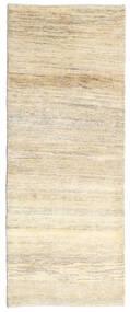 Gabbeh Persa Tapete 80X205 Moderno Feito A Mão Tapete Passadeira Bege/Bege Escuro (Lã, Pérsia/Irão)