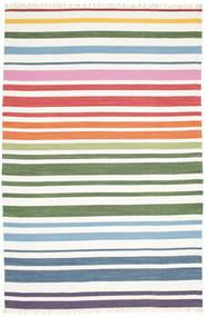 Rainbow Stripe - Branco Tapete 200X300 Moderno Tecidos À Mão Branco/Creme (Algodão, Índia)