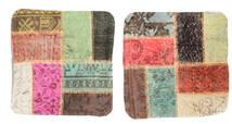 Patchwork Almofadas Tapete 50X50 Oriental Feito A Mão Quadrado Castanho Escuro/Castanho Claro (Lã, Turquia)