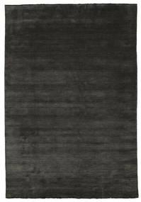 Handloom Fringes - Preto/Cinzento Tapete 220X320 Moderno Preto/Cinza Escuro (Lã, Índia)