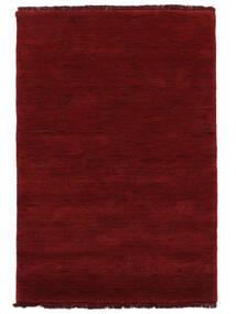 Handloom Fringes - Vermelho Escuro Tapete 200X300 Moderno Vermelho (Lã, Índia)