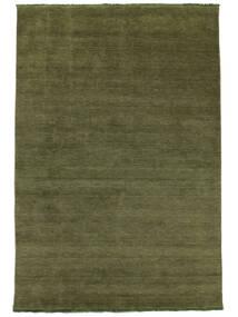 Handloom Fringes - Verde Tapete 160X230 Moderno Verde Azeitona (Lã, Índia)