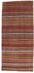 Kilim Semi-Antigo Turquia Tapete 180X391 Oriental Tecidos À Mão Vermelho Escuro/Castanho Escuro (Lã, Turquia)