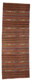 Kilim Semi-Antigo Turquia Tapete 147X396 Oriental Tecidos À Mão Tapete Passadeira Vermelho Escuro/Castanho Claro (Lã, Turquia)