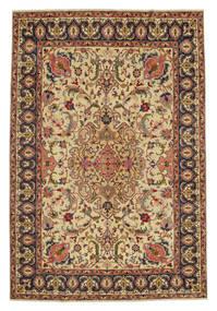 Tabriz Patina Tapete 217X328 Oriental Feito A Mão Castanho/Bege Escuro (Lã, Pérsia/Irão)
