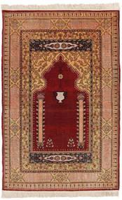 Herike Tu Tapete 82X130 Oriental Feito A Mão Vermelho Escuro/Castanho Claro (Seda, Turquia)