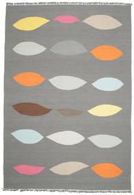 Leaves - Cinzento Tapete 220X320 Moderno Tecidos À Mão Cinza Escuro/Cinzento Claro (Lã, Índia)