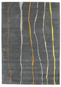 Flaws Handtufted - Cinzento Tapete 160X230 Moderno Cinza Escuro/Cinzento Claro (Lã, Índia)