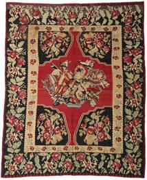 Kilim Semi-Antigo Tapete 287X355 Oriental Tecidos À Mão Vermelho Escuro/Preto Grande (Lã, Slovenia)