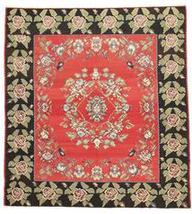 Kilim Semi-Antigo Tapete 272X290 Oriental Tecidos À Mão Quadrado Cinza Escuro/Vermelho Grande (Lã, Slovenia)