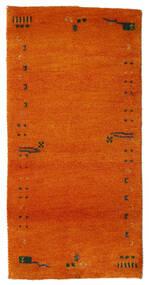 Gabbeh Indo Tapete 72X143 Moderno Feito A Mão Laranja/Castanho Alaranjado (Lã, Índia)