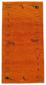 Gabbeh Indo Tapete 71X140 Moderno Feito A Mão Laranja/Castanho Claro (Lã, Índia)
