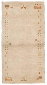 Gabbeh Indo Tapete 74X141 Moderno Feito A Mão Bege (Lã, Índia)