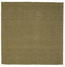 Kilim Loom - Azeitona Tapete 250X250 Moderno Tecidos À Mão Quadrado Verde Azeitona Grande (Lã, Índia)