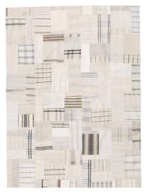 Kilim Patchwork Tapete 170X230 Moderno Tecidos À Mão Bege/Cinzento Claro (Lã, Turquia)