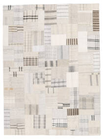 Kilim Patchwork Tapete 171X230 Moderno Tecidos À Mão Bege/Branco/Creme (Lã, Turquia)
