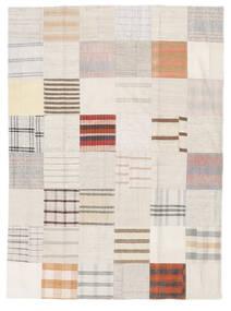 Kilim Patchwork Tapete 170X231 Moderno Tecidos À Mão Bege/Branco/Creme (Lã, Turquia)