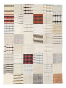 Kilim Patchwork Tapete 170X231 Moderno Tecidos À Mão Branco/Creme/Bege (Lã, Turquia)