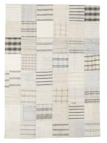 Kilim Patchwork Tapete 171X240 Moderno Tecidos À Mão Bege/Branco/Creme (Lã, Turquia)