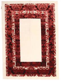 Himalaya Tapete 150X210 Moderno Feito A Mão Bege/Vermelho Escuro ( Índia)