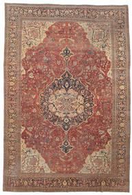Farahan Tapete 368X550 Oriental Feito A Mão Vermelho Escuro/Castanho Grande (Lã, Pérsia/Irão)