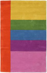 Colors By Meja Handtufted Tapete 100X160 Moderno Rosa/Castanho Alaranjado (Lã, Índia)