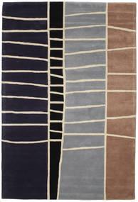 Abstract Bambu Handtufted Tapete 200X300 Moderno Porpora Escuro/Cinzento Claro (Lã, Índia)