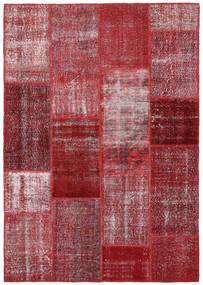 Patchwork Tapete 164X234 Moderno Feito A Mão Vermelho Escuro/Roxo (Lã, Turquia)
