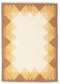 Kilim Dorris - Castanho Tapete 140X200 Moderno Tecidos À Mão Bege/Castanho Claro (Lã, Índia)