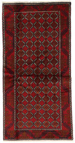 Balúchi Tapete 98X197 Oriental Feito A Mão Vermelho Escuro (Lã, Pérsia/Irão)